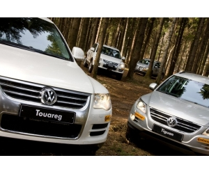 Тест-драйв автомобилей VW Touareg, Tiguan Off-road
