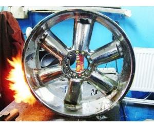 Как производить ремонт литых авто дисков