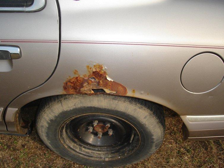 Убрать ржавчину на машине в домашних условиях