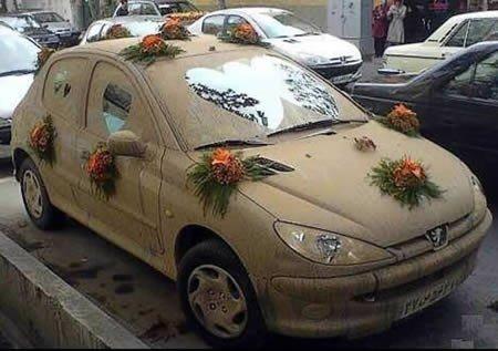 Необычные свадебные автомобили