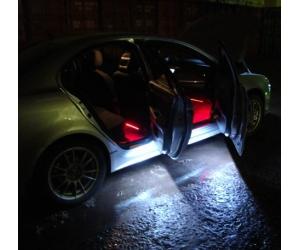 Как сделать подсветку в дверях авто