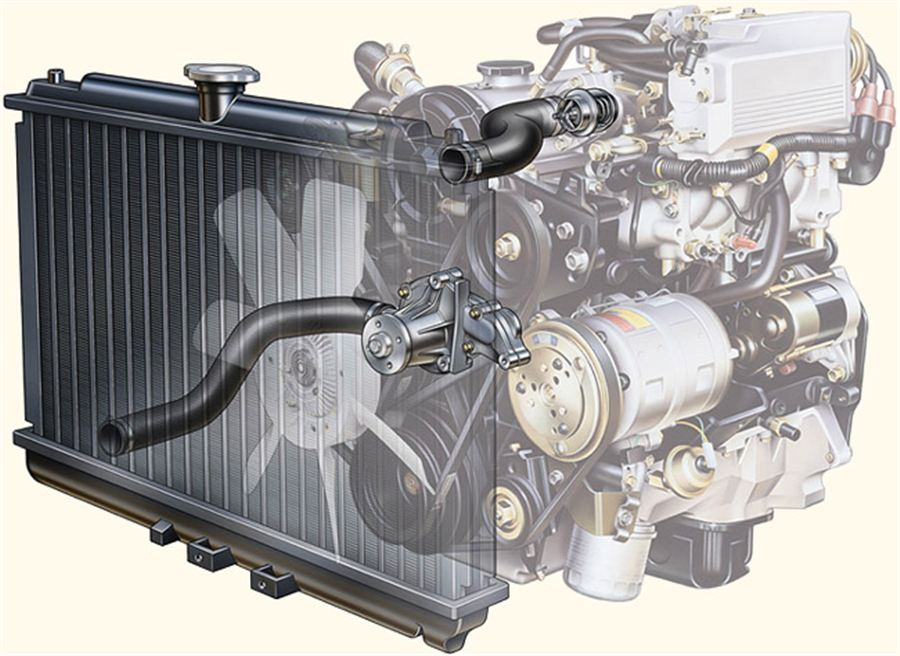 Автомобильная система охлаждения